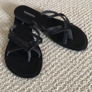 Sonoma black slide sandals